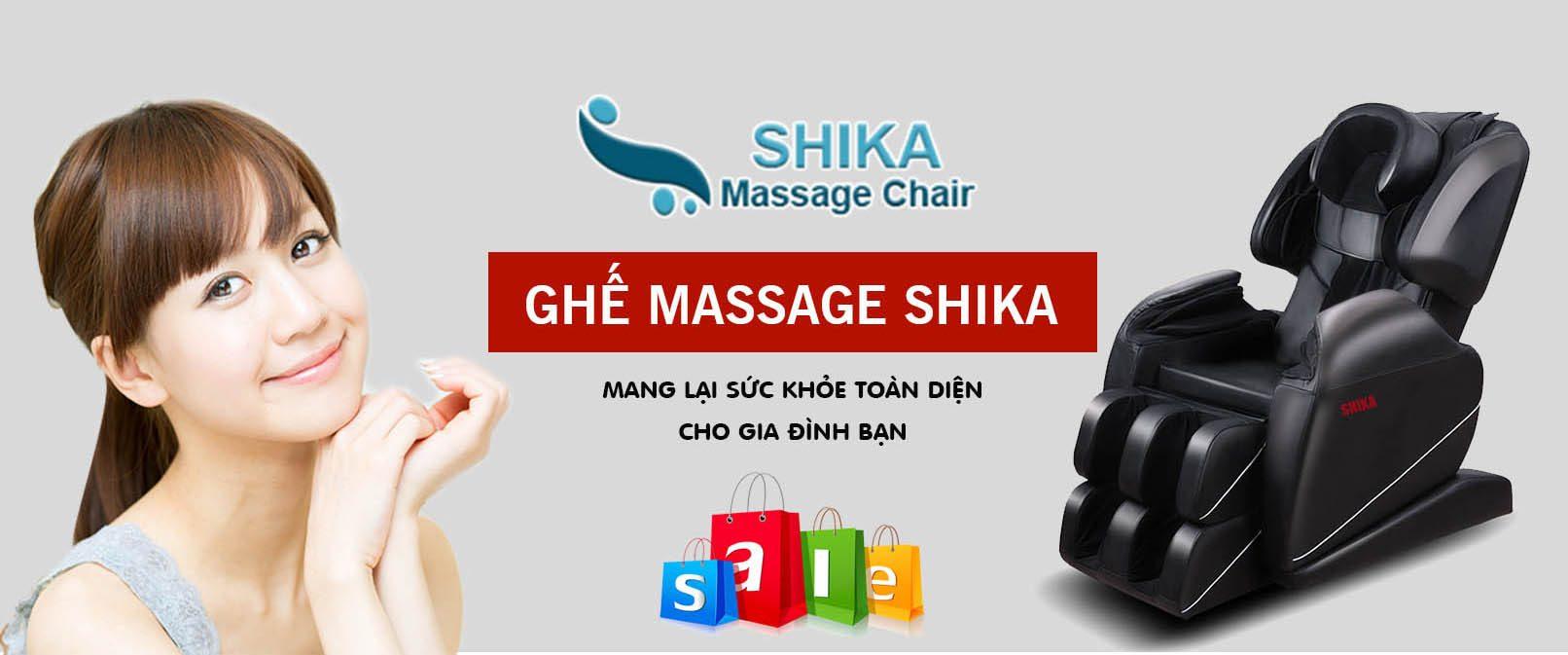 Banner ghế massage shika toàn thân