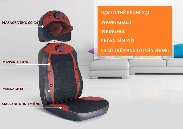 đệm massage toàn thân new magic xd 803 hàng cao cấp