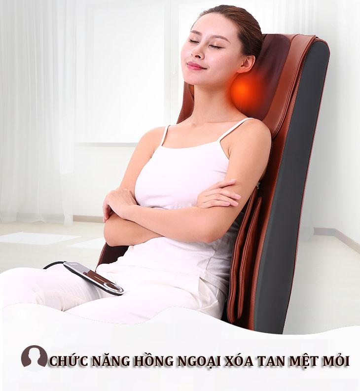 đệm massage toàn thân shika sk0518 hồng ngoại
