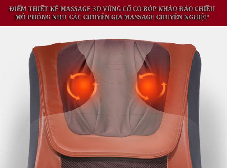 đệm massage toàn thân shika sk0518 con lăn gáy