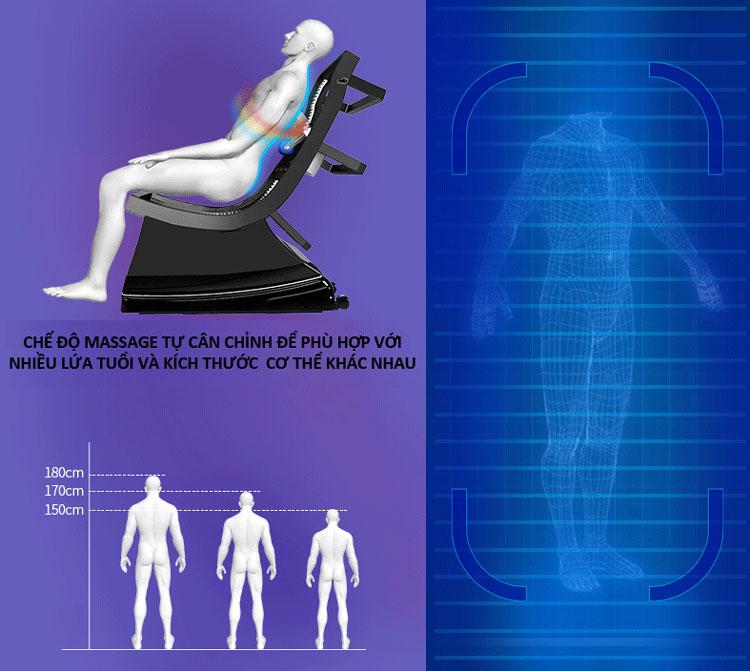 ghế massage toàn thân shika sk8926 con lăn lshape
