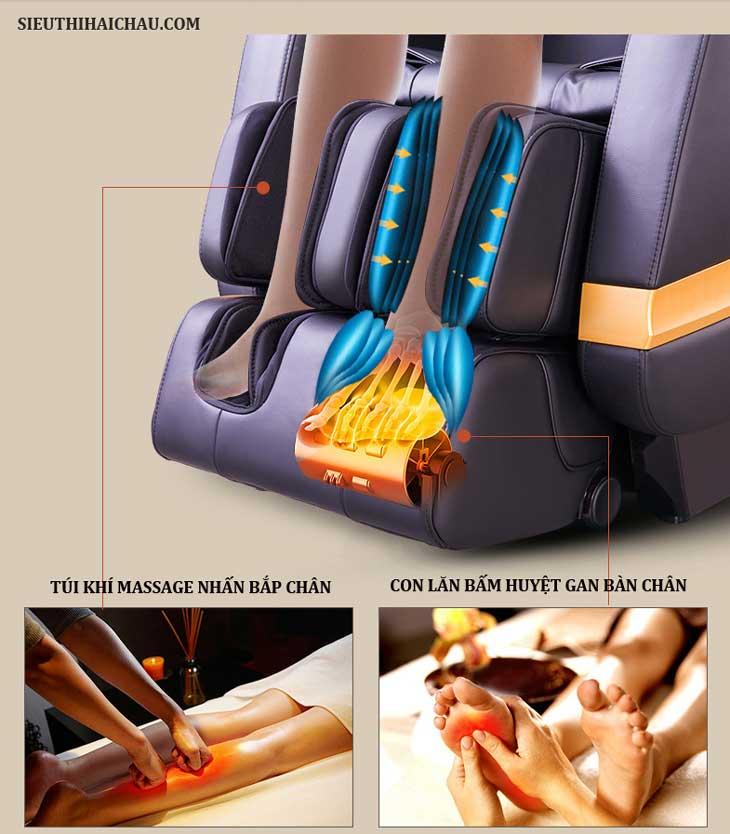ghế matxa toàn thân shika sk8902 3d con lăn chân
