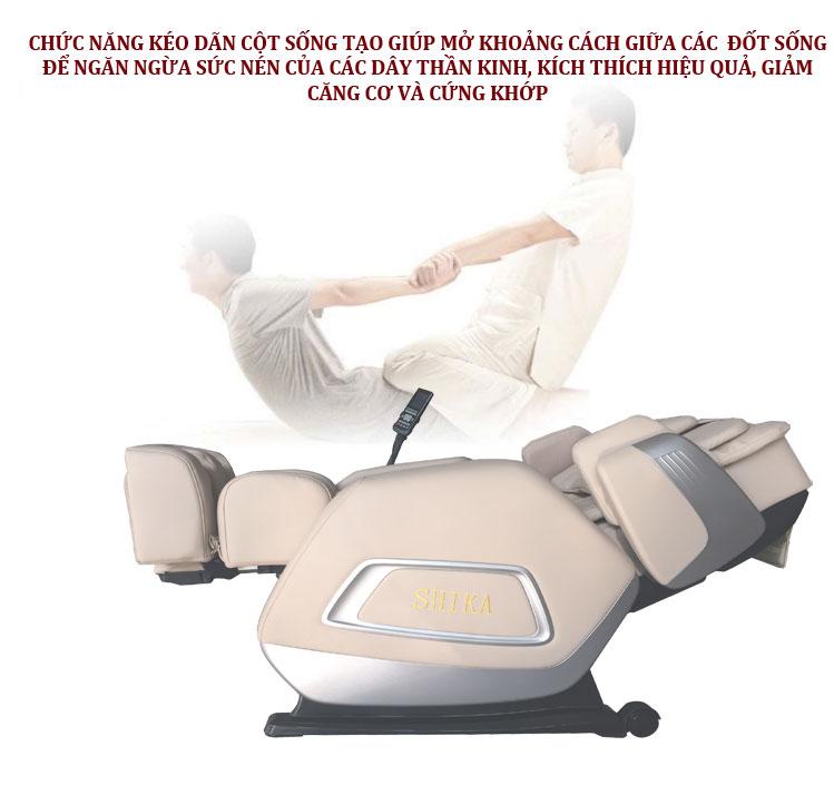 ghế matxa toàn thân shika sk8908 kéo dãn cột sống