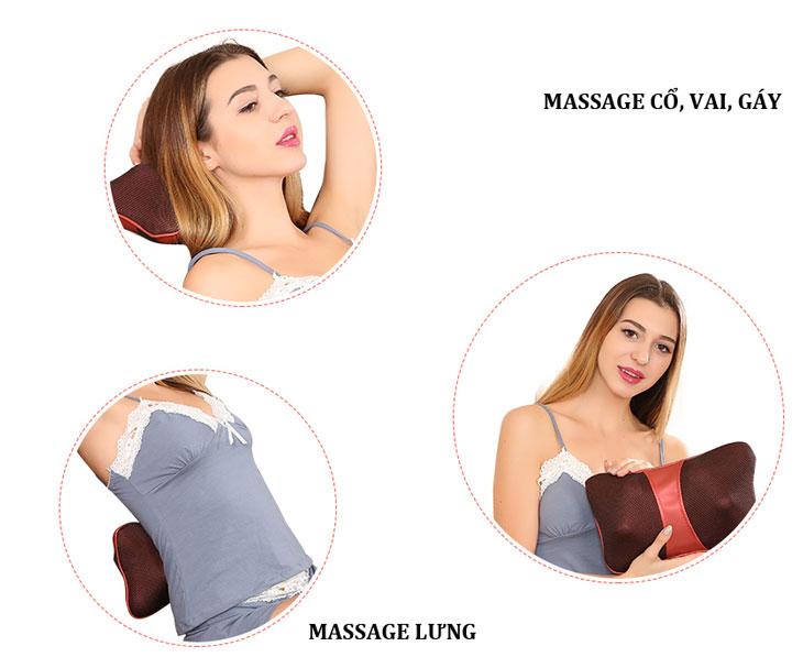gối massage hồng ngoại asuka 818 nhiều chức năng