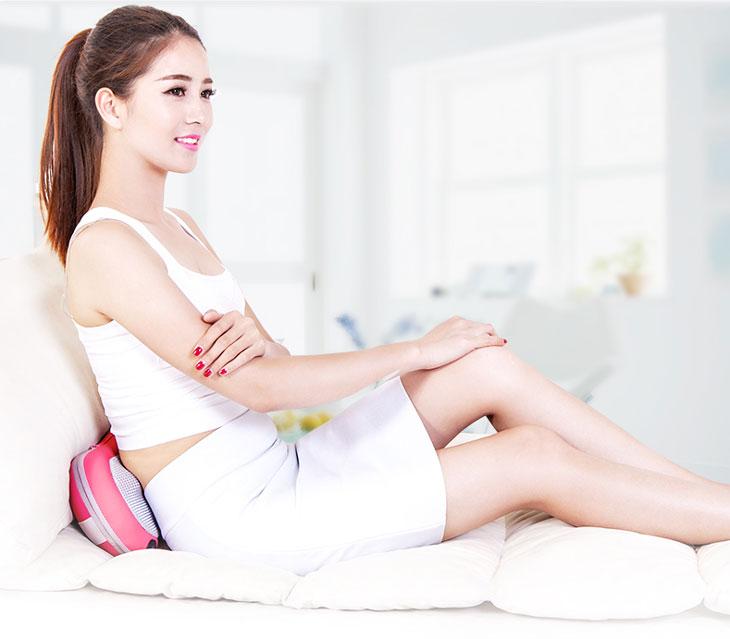 gối massage hồng ngoại new magic 819 massage lưng