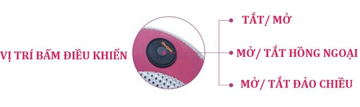 gối massage hồng ngoại new magic nút điều khiển