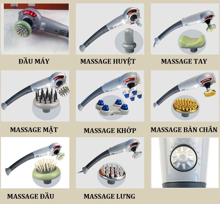 máy massage cầm tay 7 đầu nhiều chức năng