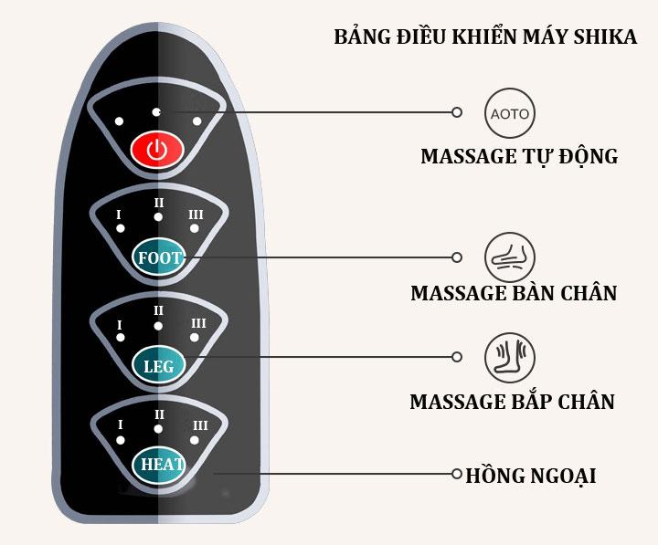 máy massage chân shika sk8911 bảng điều khiển