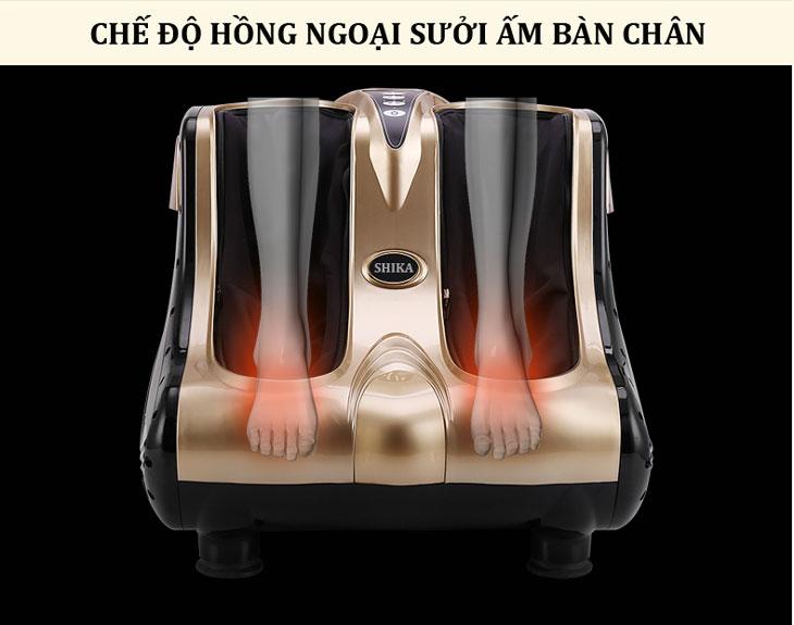 máy massage chân shika sk8911 hồng ngoại