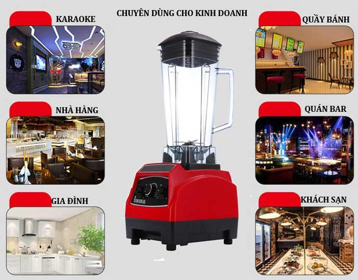 máy xay sinh tố công suất lớn shika mở nhà hàng