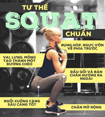 Bài tập giảm cân toàn thân với động tác Squat