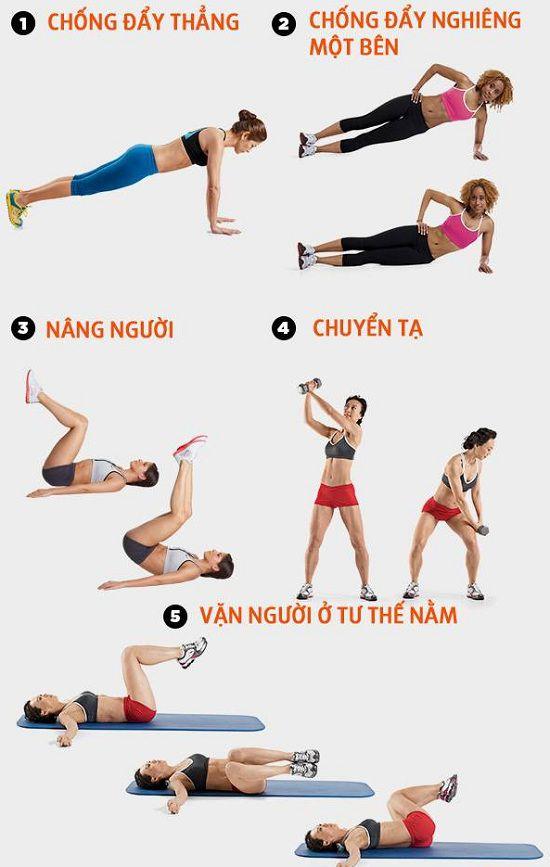 bài tập giảm cân toàn thân