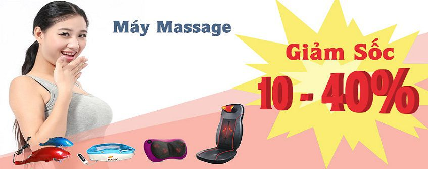 Banner đai massage máy massage cầm tay