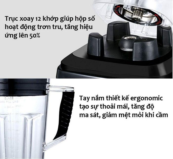 máy xay sinh tố đa năng sk003 trục xoay