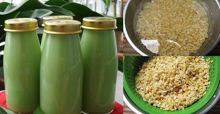cách làm sữa đậu xanh bằng máy xay sinh tố