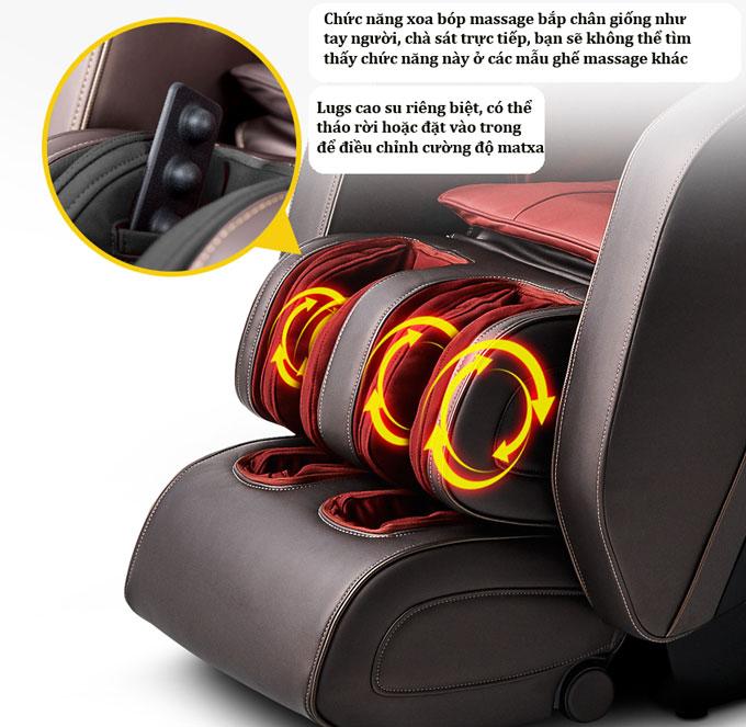 ghế massage shika sk8918 chân ghế