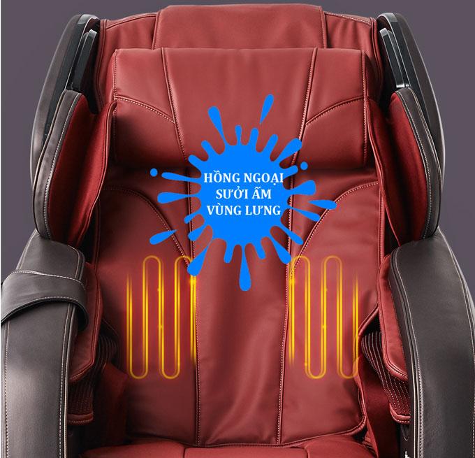ghế massage shika sk8918 hồng ngoại