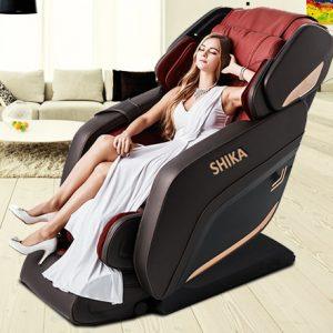 Ghế Massage Toàn Thân 3D Shika SK8918 ( Màu đỏ)