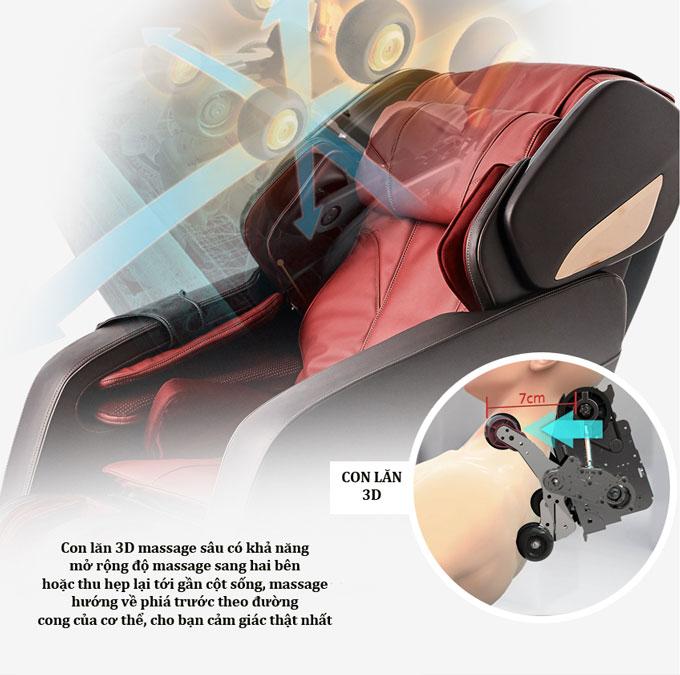 ghế massage shika sk8918 con lăn