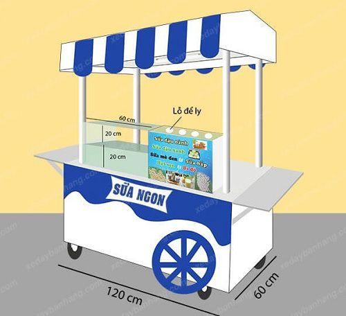 Xe đẩy bán sữa đậu nành hà nội