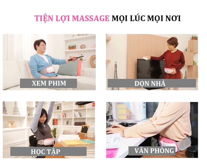 Đai massage bụng Kozumo Nhật giảm béo