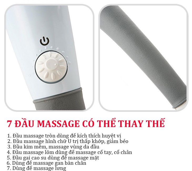Máy massage cầm tay 7 đầu King