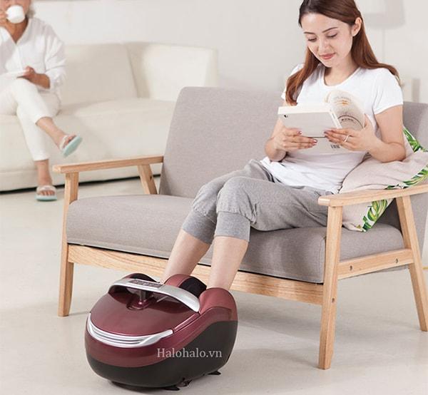 cách sử dụng máy massage chân