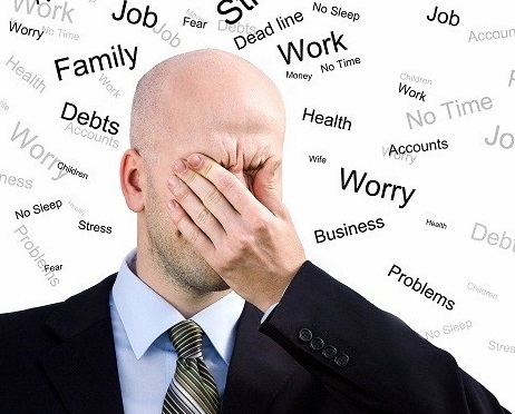 Căng thẳng kéo dài gây stress đã có ghế mát xa