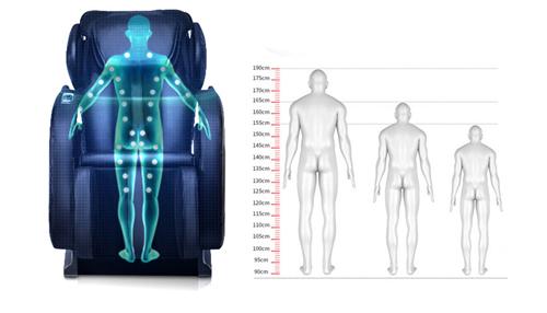 Ghế massage gắn chip thông minh đo kích thước cơ thể phù hợp