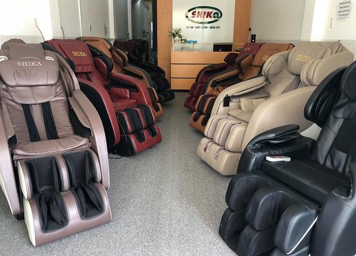 Showroom trưng bày ghế massage Shika